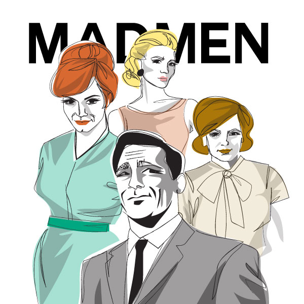 mad men illustration