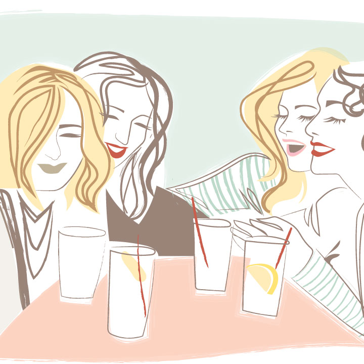 drinking with the girls