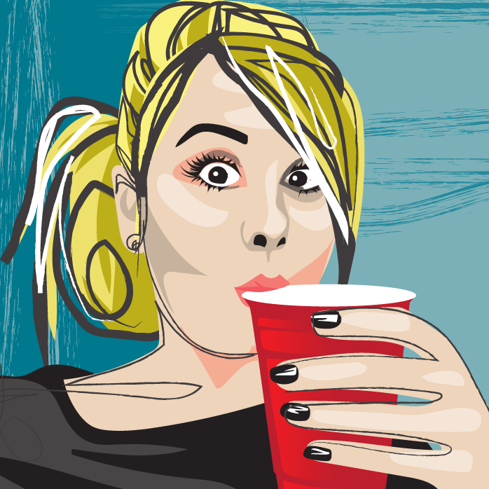 vector sketch, vector illustration, selfie illustration